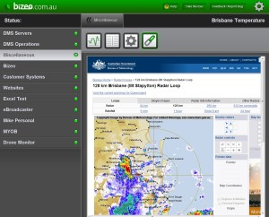 Bureau of Meteorology weather radar of Brisbane